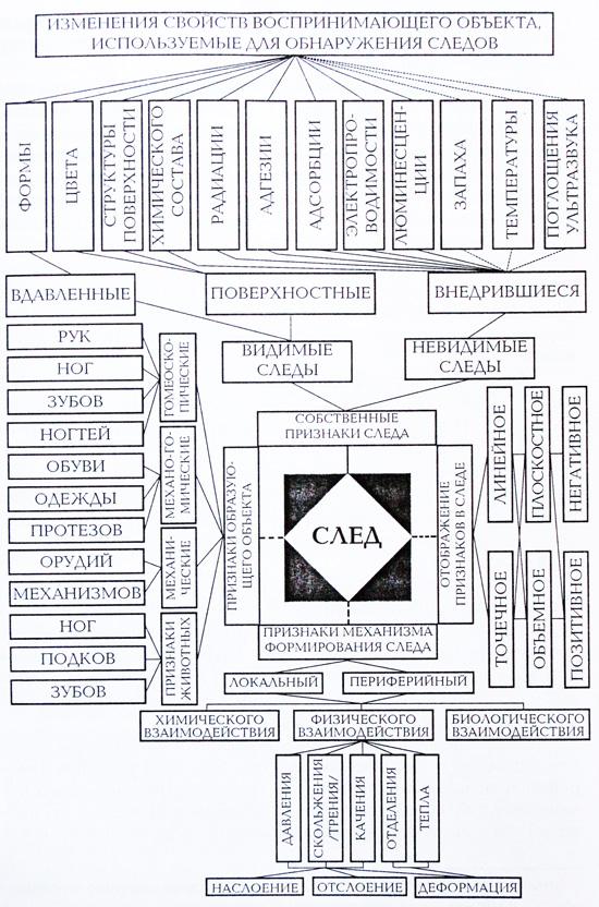 Схема классификации следов-