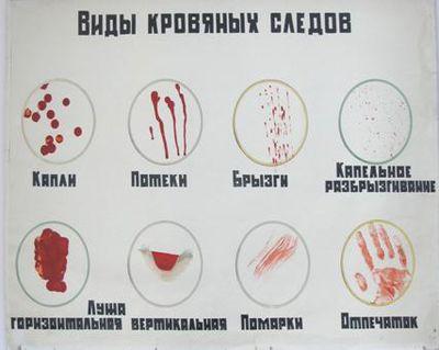Простыня в крови и сперме
